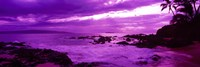 Purple Sunset over the coast, Makena Beach, Maui, Hawaii Fine-Art Print