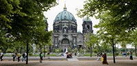 People in a park in front of a cathedral, Berlin Cathedral, Berlin, Germany Fine-Art Print