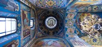 Interiors of a church, Church of The Savior On Spilled Blood, St. Petersburg, Russia Fine-Art Print