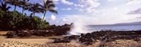 Rock formations at the coast, Maui Coast, Makena, Maui, Hawaii, USA Fine-Art Print