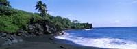 Tide on the beach, Black Sand Beach, Hana Highway, Waianapanapa State Park, Maui, Hawaii, USA Fine-Art Print