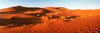 Desert at sunrise, Sahara Desert, Morocco Fine-Art Print