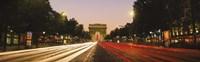 Traffic on the road, Avenue des Champs-Elysees, Arc De Triomphe, Paris, Ile-de-France, France Fine-Art Print