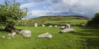 Piper's Stone, Bronze Age Stone Circle (1400-800 BC) of 14 Granite Boulders, Near Hollywood, County Wicklow, Ireland Fine-Art Print