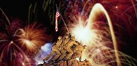 Digital Composite, Fireworks Highlight the Marine Corps War Memorial, Arlington, Virginia, USA Fine-Art Print