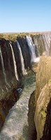 Water falling through rocks in a river, Victoria Falls, Zimbabwe Fine-Art Print