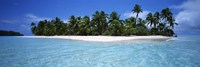 Tapuaetai Motu from the Lagoon, Aitutaki, Cook Islands Fine-Art Print