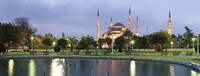 Blue Mosque Lit Up at Dusk, Istanbul, Turkey Fine-Art Print