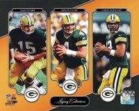 Bart Starr, Brett Favre, & Aaron Rodgers Legacy Collection Fine-Art Print