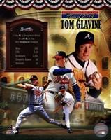 Tom Glavine MLB Hall of Fame Legends Composite Fine-Art Print