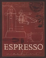 Coffee Blueprint IV v Fine-Art Print