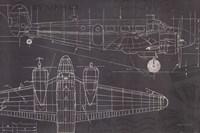 Plane Blueprint I Fine-Art Print