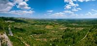 Valley with Olive Trees and Limestone Hills, Les Baux-de-Provence, Bouches-Du-Rhone, Provence-Alpes-Cote d'Azur, France Fine-Art Print