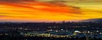 Cityscape at dusk, Sony Studios, Culver City, Santa Monica, Los Angeles County, California, USA Fine-Art Print