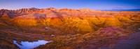 Rock formations on a landscape, Badlands National Park, South Dakota, USA Fine-Art Print