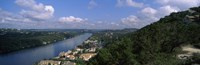 High angle view of a city at the waterfront, Austin, Travis County, Texas, USA Fine-Art Print