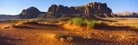 Rock formations in a desert, Jebel Qatar, Wadi Rum, Jordan Fine-Art Print