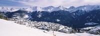 Ski resort with mountain range in the background, Fiss, Tirol, Austria Fine-Art Print