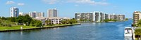 Buildings on Intracoastal Waterway, Hollywood Beach, Hollywood, Florida Fine-Art Print
