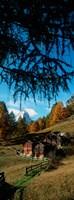 Huts with the Mt Matterhorn in background in autumn morning light, Valais Canton, Switzerland Fine-Art Print