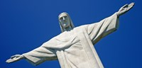 Low angle view of the Christ The Redeemer, Corcovado, Rio De Janeiro, Brazil Fine-Art Print