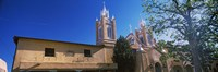 Low angle view of a church, San Felipe de Neri Church, Old Town, Albuquerque, New Mexico, USA Fine-Art Print