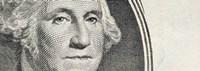 Details of George Washington's image on the US dollar bill Fine-Art Print