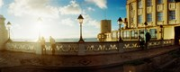 Lacerda Elevator on the coast at sunset, Pelourinho, Salvador, Bahia, Brazil Fine-Art Print