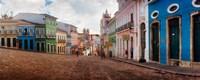 Colorful buildings, Pelourinho, Salvador, Bahia, Brazil Fine-Art Print