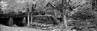 Glade Creek Grist Mill, Babcock State Park, West Virginia, USA (Black & White) Fine-Art Print