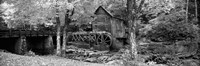 Black & White View of Glade Creek Grist Mill, Babcock State Park, West Virginia, USA Fine-Art Print