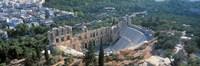 Ode'on tu Herodu Att'ku the Acropolis Athens Greece Fine-Art Print