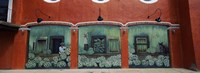 Mural on a wall, Cancun, Yucatan, Mexico Fine-Art Print