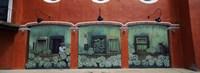 Mural on a wall, Cancun, Yucatan, Mexico Fine-Art Print
