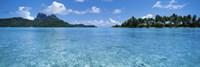 Motu and lagoon, Bora Bora, Society Islands, French Polynesia Fine-Art Print