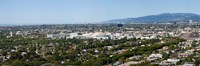 High angle view of a city, Culver City, West Los Angeles, Santa Monica Mountains, Los Angeles County, California, USA Fine-Art Print
