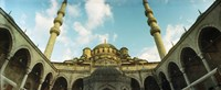 Low angle view of inside of New Mosque, New Mosque, Eminonu, Istanbul, Turkey Fine-Art Print