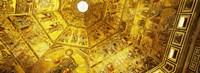 Baptistery mosaic ceiling, Battistero Di San Giovanni, Florence, Tuscany, Italy Fine-Art Print