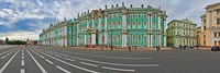 Parade Ground in front of a museum, Winter Palace, State Hermitage Museum, Palace Square, St. Petersburg, Russia Fine-Art Print