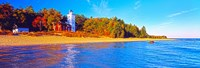 Forty Mile Point Lighthouse on the beach, Michigan, USA Fine-Art Print