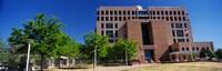 Facade of a government building, Pete V.Domenici United States Courthouse, Albuquerque, New Mexico, USA Fine-Art Print