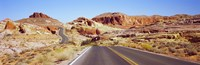 Road passing through the Valley of Fire State Park, Nevada, USA Fine-Art Print
