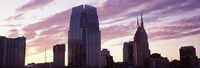 Pinnacle at Symphony Place and BellSouth Building at sunset, Nashville, Tennessee, USA 2013 Fine-Art Print