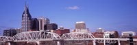 Shelby Street Bridge with downtown skyline in background, Nashville, Tennessee, USA 2013 Fine-Art Print