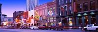 Street scene at dusk, Nashville, Tennessee, USA Fine-Art Print