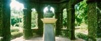Memorial statue in the house of cedar, Jardim Botanico, Zona Sul, Rio de Janeiro, Brazil Fine-Art Print
