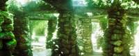 Stone canopy in the botanical garden, Jardim Botanico, Zona Sul, Rio de Janeiro, Brazil Fine-Art Print