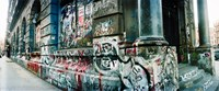 Graffiti covered Germania Bank Building on Bowery Street, Soho, Manhattan, New York City Fine-Art Print
