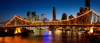Bridge across a river, Story Bridge, Brisbane River, Brisbane, Queensland, Australia Fine-Art Print