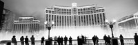 Bellagio Resort And Casino Lit Up At Night, Las Vegas (black & white) Fine-Art Print